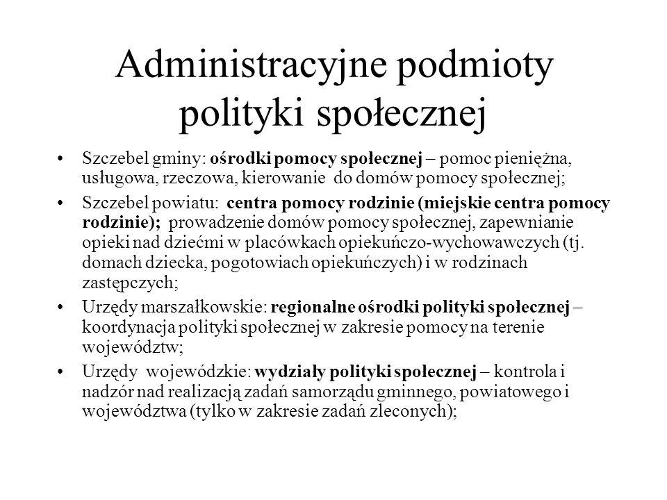 Administracyjne podmioty polityki społecznej