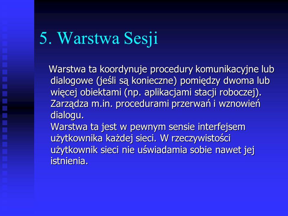 5. Warstwa Sesji