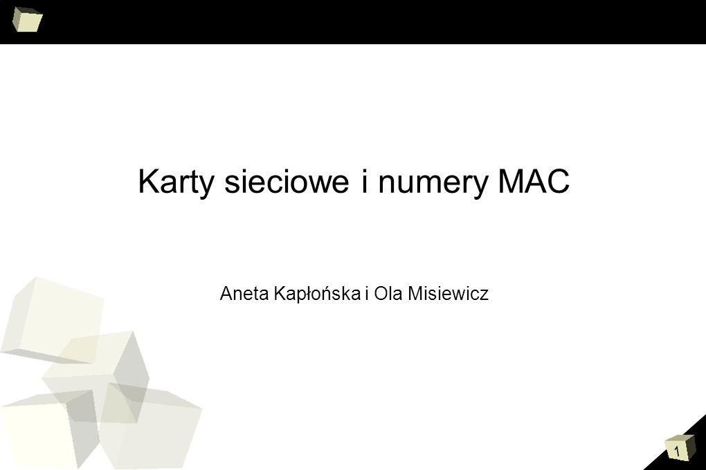 Karty sieciowe i numery MAC Aneta Kapłońska i Ola Misiewicz