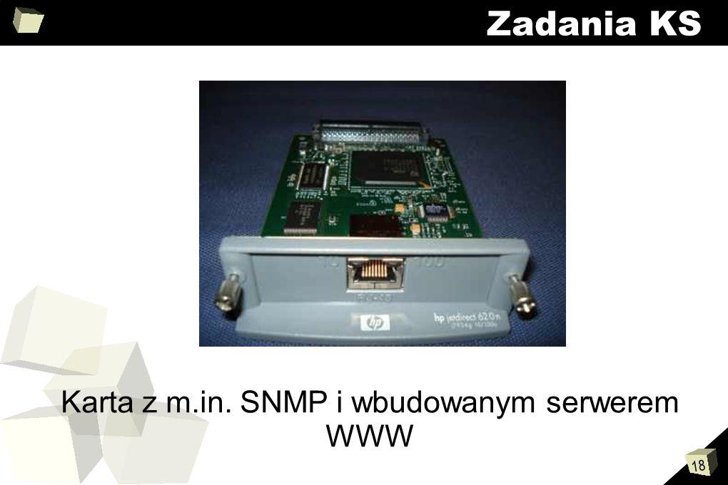 Karta z m.in. SNMP i wbudowanym serwerem WWW