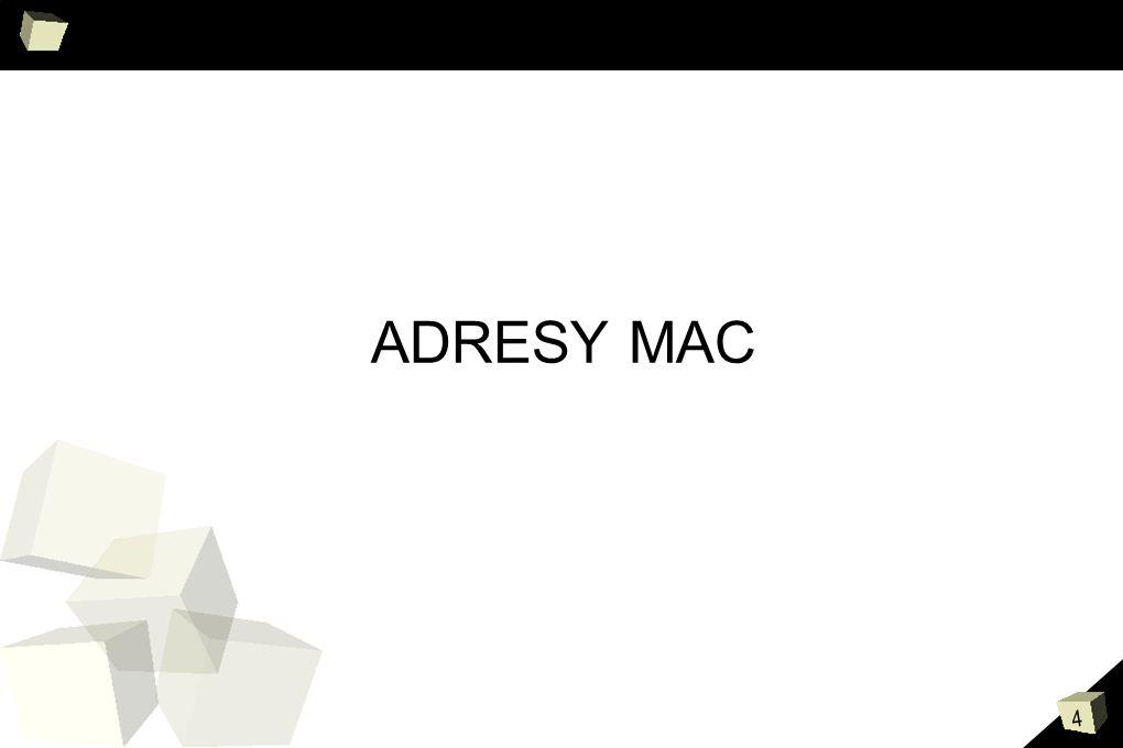 Karty sieciowe i MAC ADRESY MAC