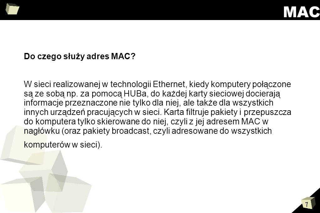 MAC Do czego służy adres MAC