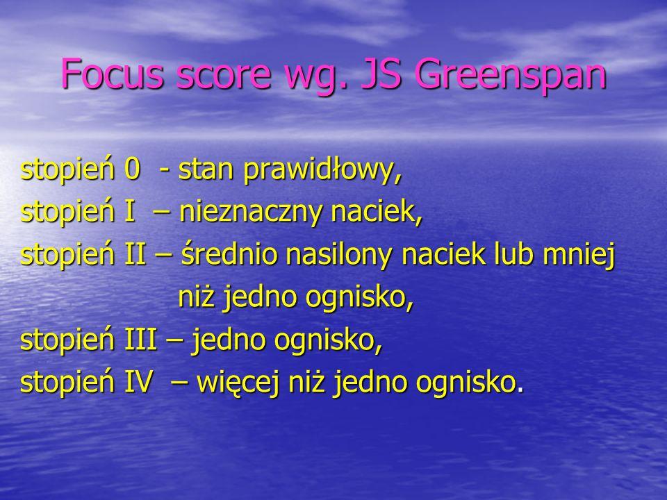 Focus score wg. JS Greenspan
