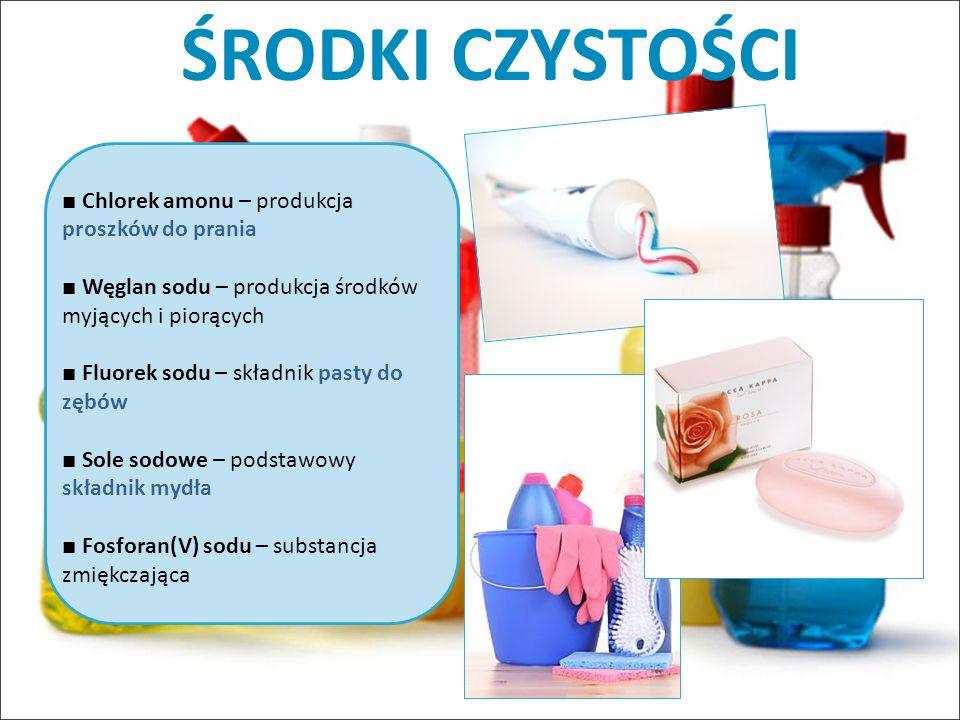 ŚRODKI CZYSTOŚCI ■ Chlorek amonu – produkcja proszków do prania