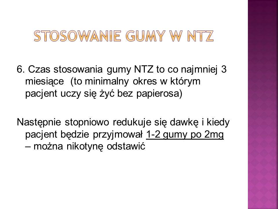 Stosowanie gumy w NTZ