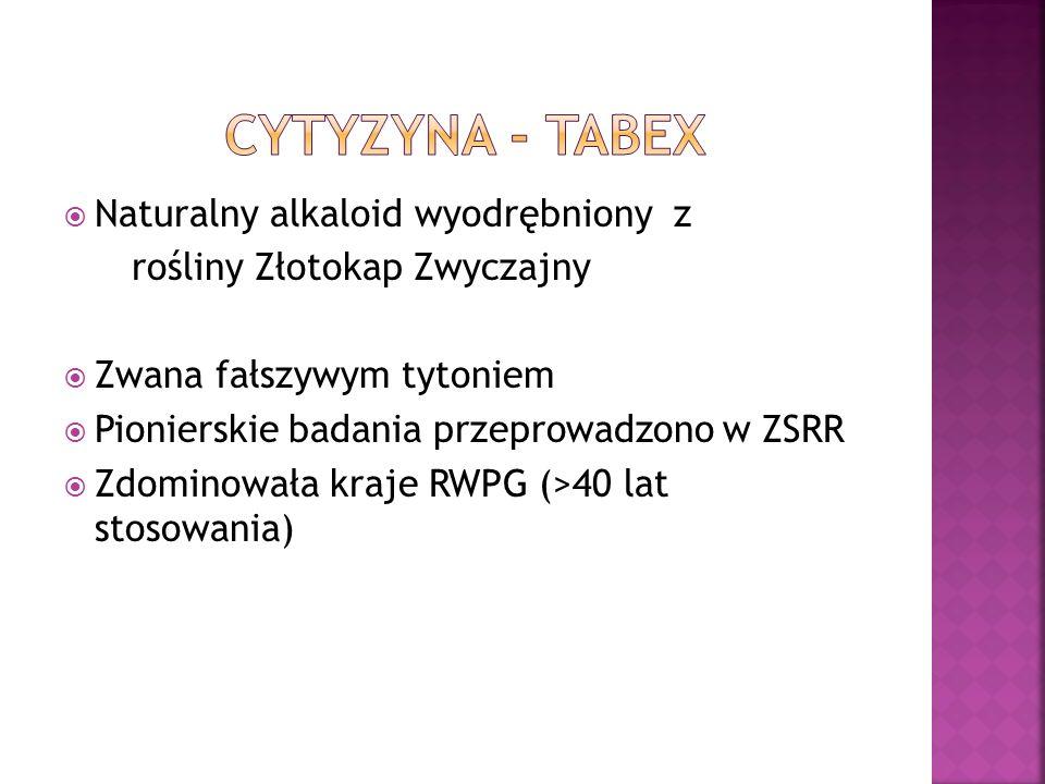 Cytyzyna - TABEX Naturalny alkaloid wyodrębniony z
