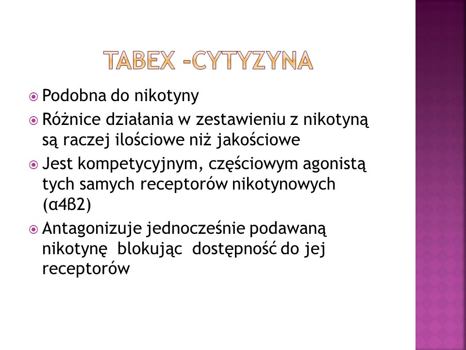 TABEX -Cytyzyna Podobna do nikotyny