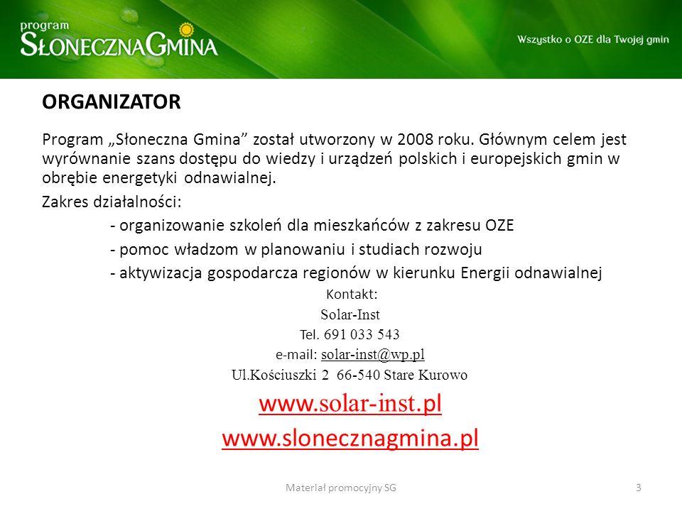 www.solar-inst.pl www.slonecznagmina.pl ORGANIZATOR