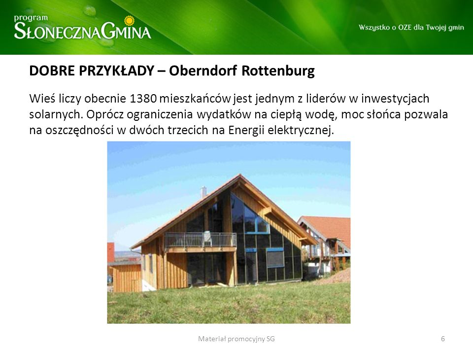 DOBRE PRZYKŁADY – Oberndorf Rottenburg