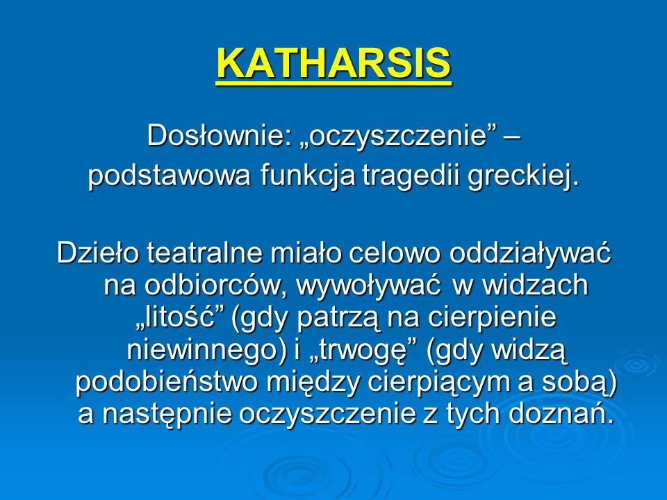 """KATHARSIS Dosłownie: """"oczyszczenie –"""