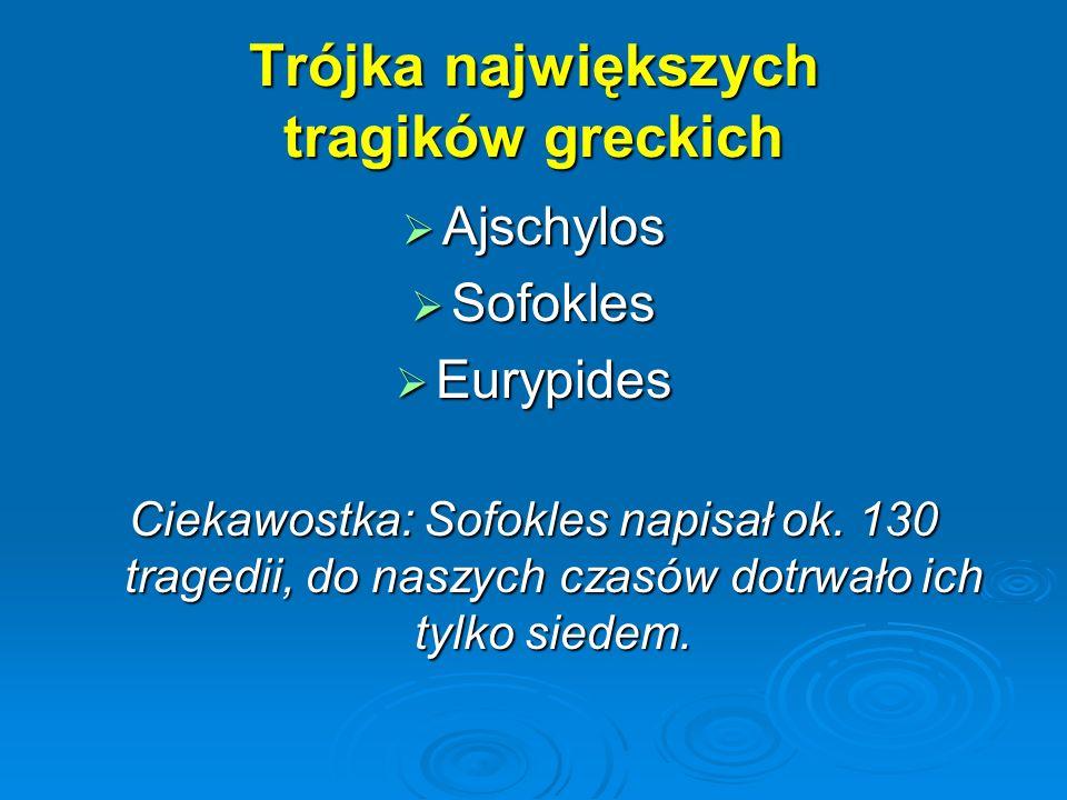 Trójka największych tragików greckich