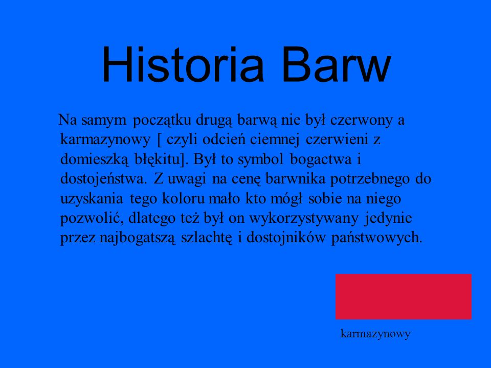 Historia Barw