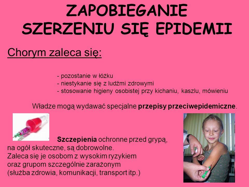 SZERZENIU SIĘ EPIDEMII