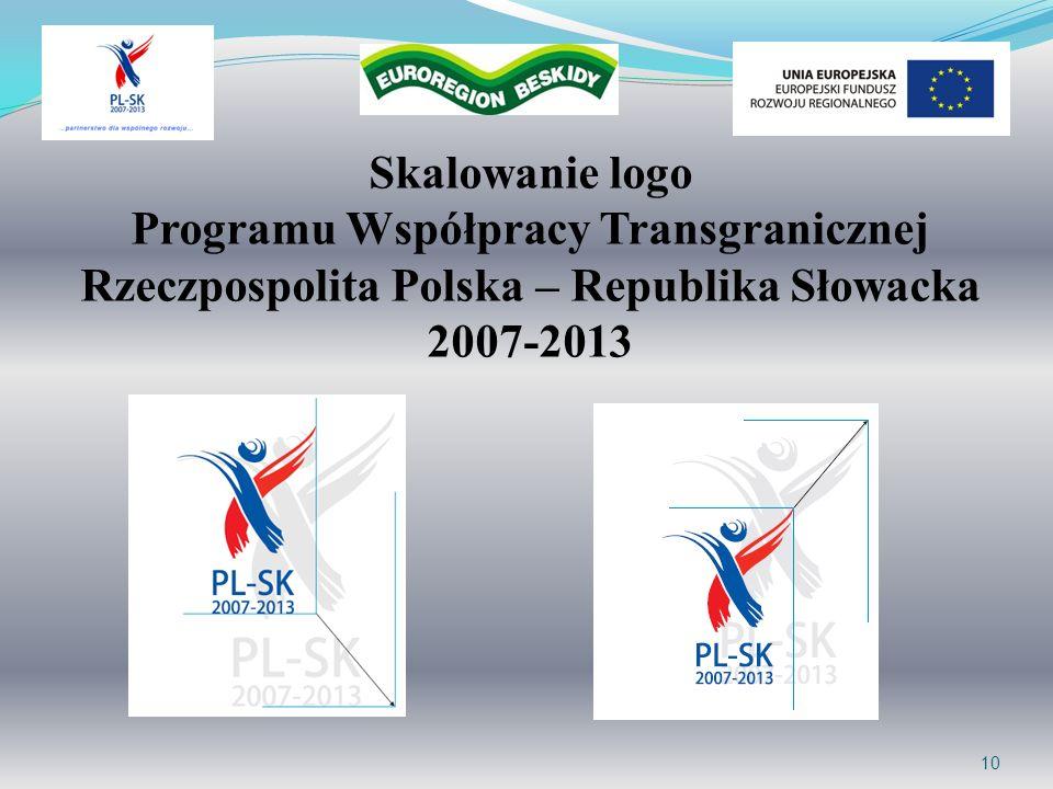 Skalowanie logo Programu Współpracy Transgranicznej Rzeczpospolita Polska – Republika Słowacka 2007-2013