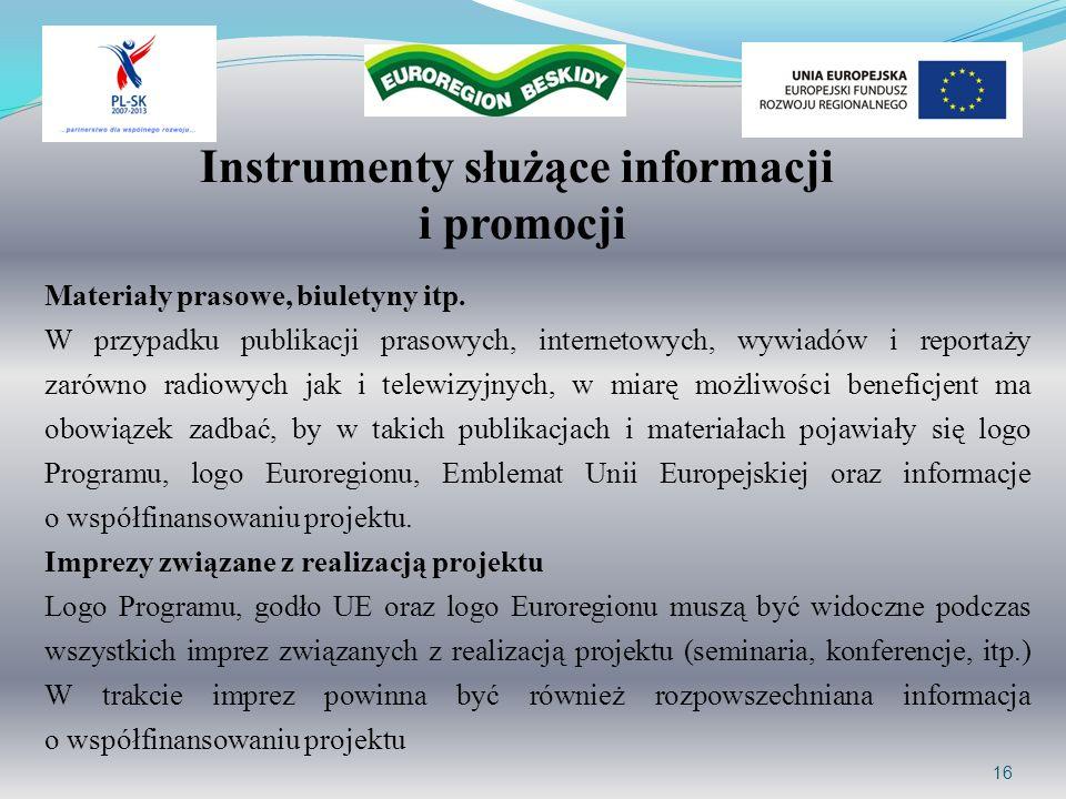 Instrumenty służące informacji i promocji