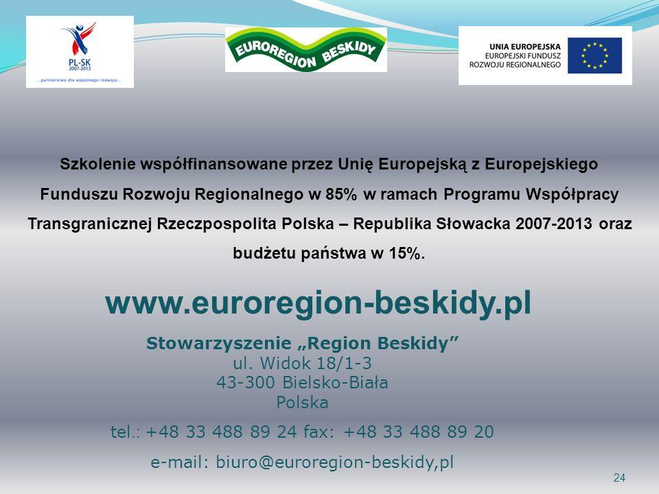 e-mail: biuro@euroregion-beskidy,pl