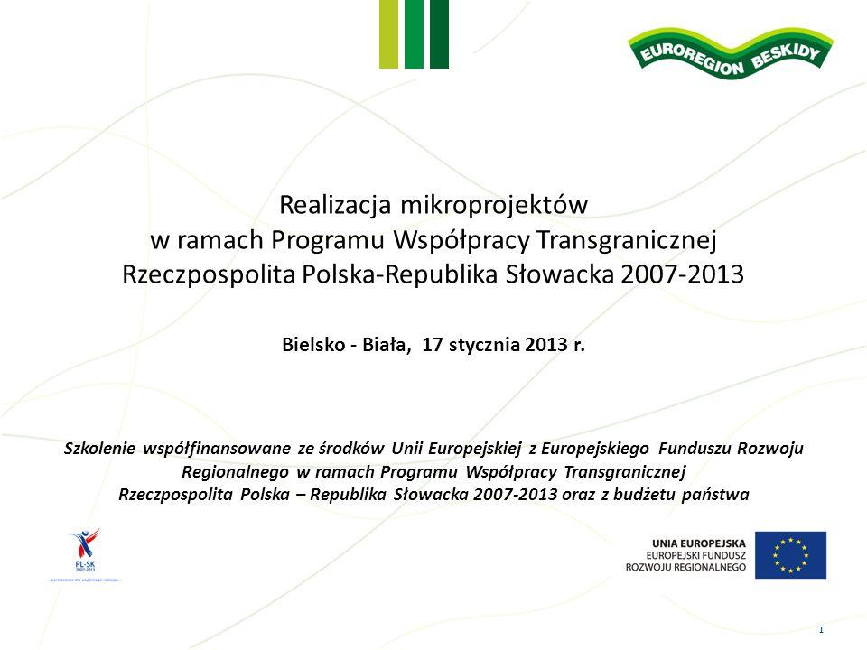 Realizacja mikroprojektów w ramach Programu Współpracy Transgranicznej