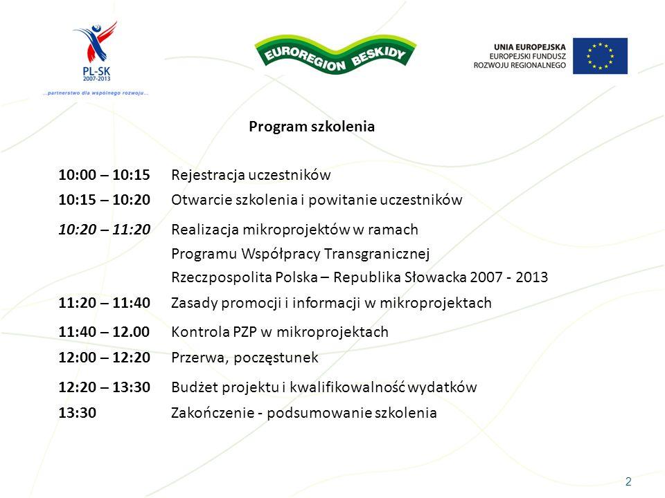 10:15 – 10:20 Otwarcie szkolenia i powitanie uczestników