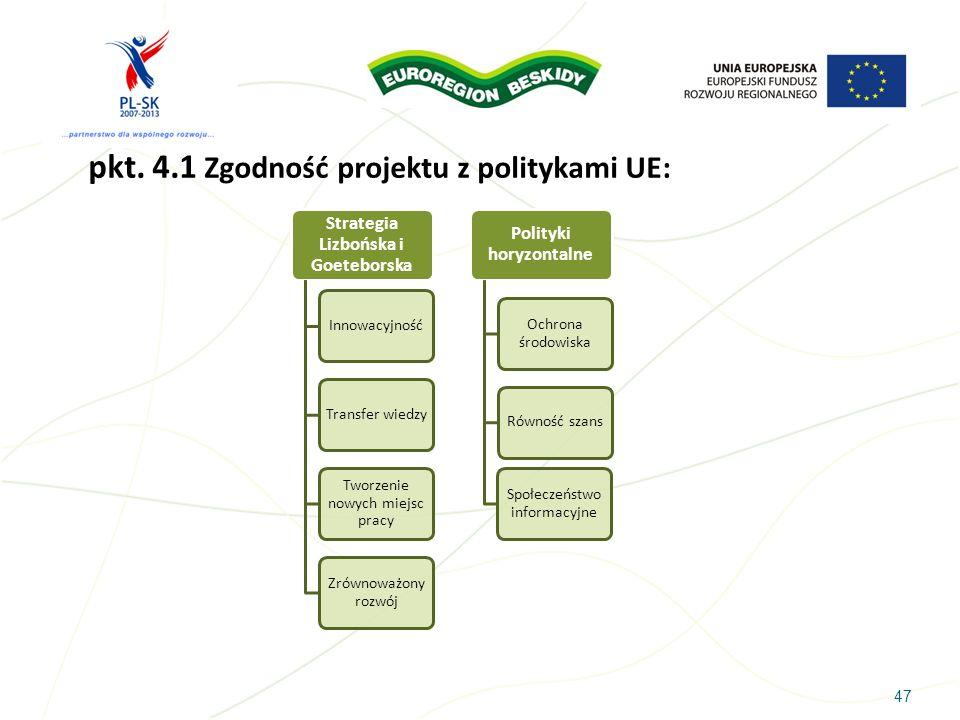 Strategia Lizbońska i Goeteborska Polityki horyzontalne