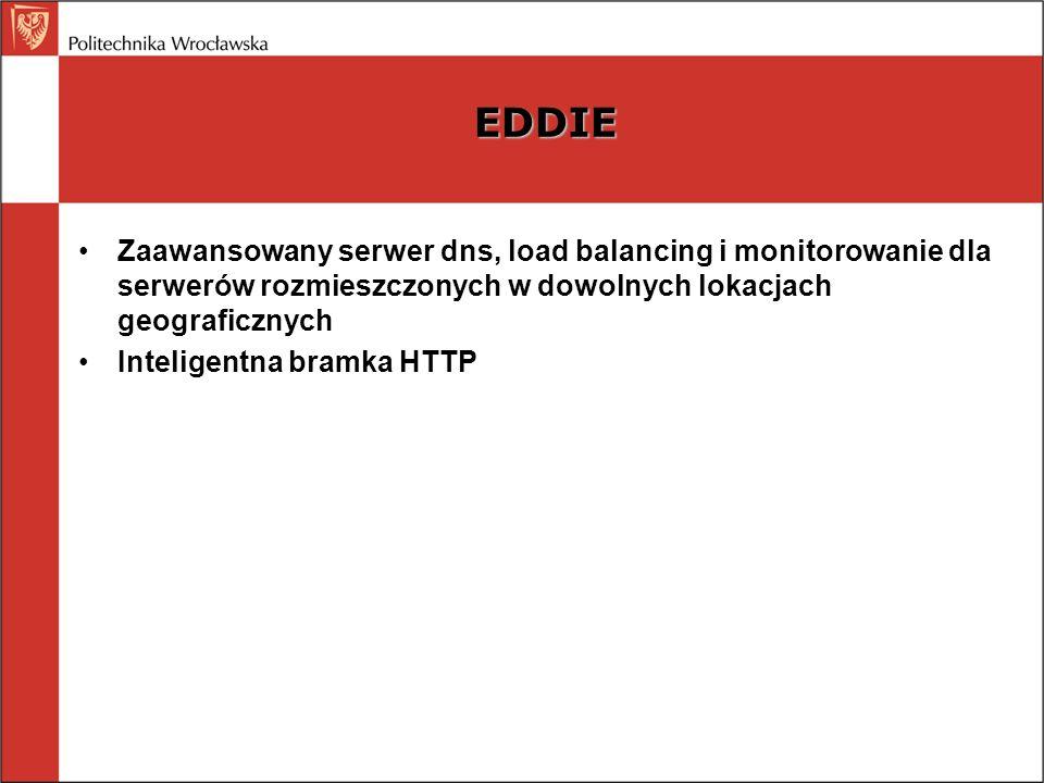 EDDIE Zaawansowany serwer dns, load balancing i monitorowanie dla serwerów rozmieszczonych w dowolnych lokacjach geograficznych.