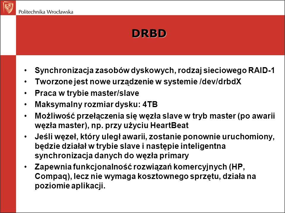 DRBD Synchronizacja zasobów dyskowych, rodzaj sieciowego RAID-1