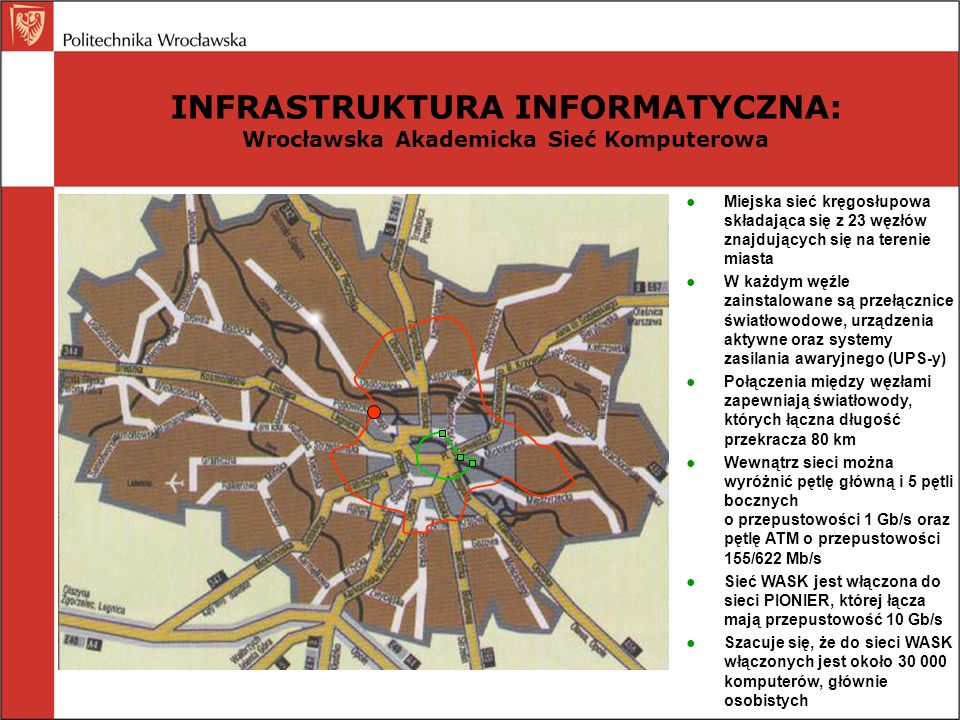 INFRASTRUKTURA INFORMATYCZNA: Wrocławska Akademicka Sieć Komputerowa