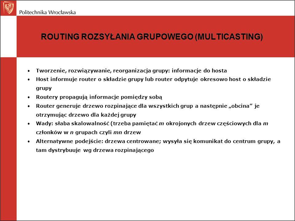 ROUTING ROZSYŁANIA GRUPOWEGO (MULTICASTING)