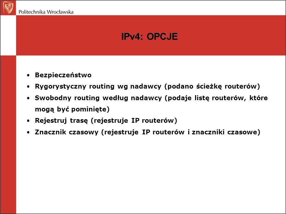 IPv4: OPCJE Bezpieczeństwo