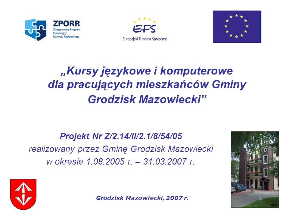realizowany przez Gminę Grodzisk Mazowiecki