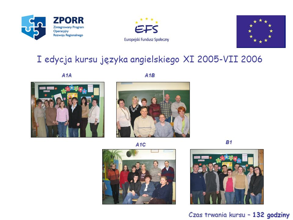 I edycja kursu języka angielskiego XI 2005-VII 2006