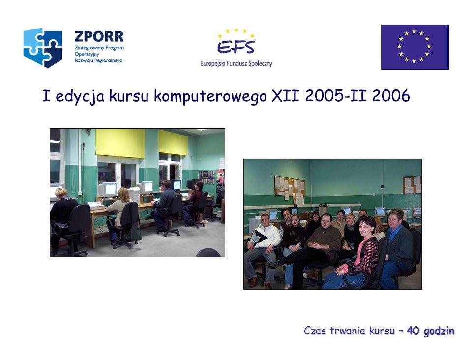I edycja kursu komputerowego XII 2005-II 2006