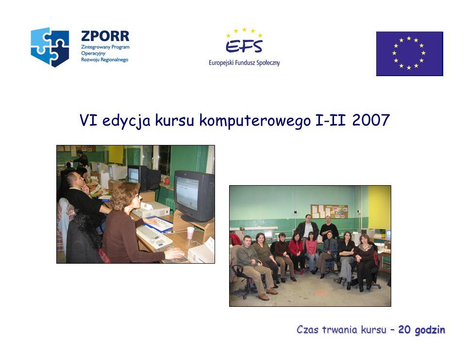 VI edycja kursu komputerowego I-II 2007
