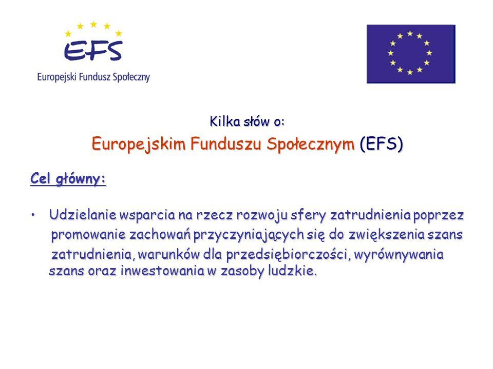 Europejskim Funduszu Społecznym (EFS)