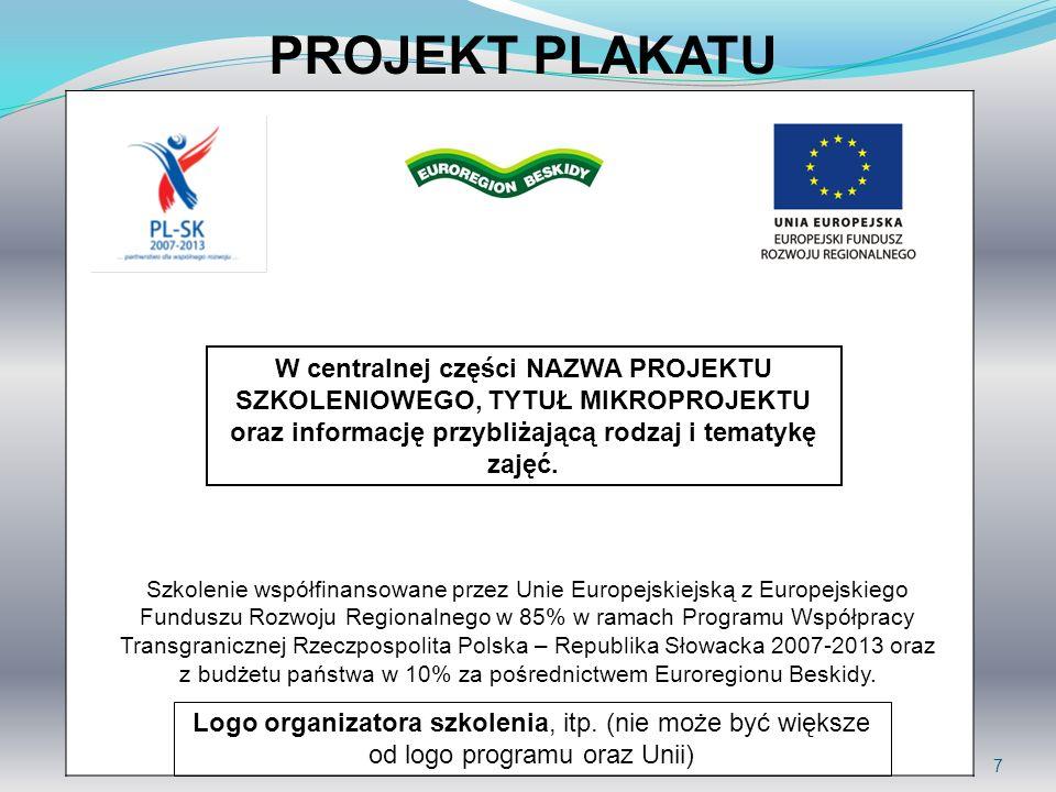 z budżetu państwa w 10% za pośrednictwem Euroregionu Beskidy.