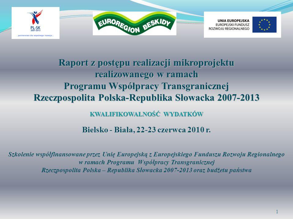Raport z postępu realizacji mikroprojektu realizowanego w ramach