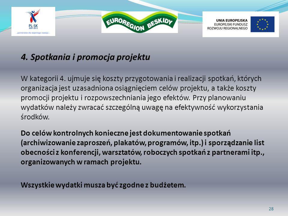 4. Spotkania i promocja projektu