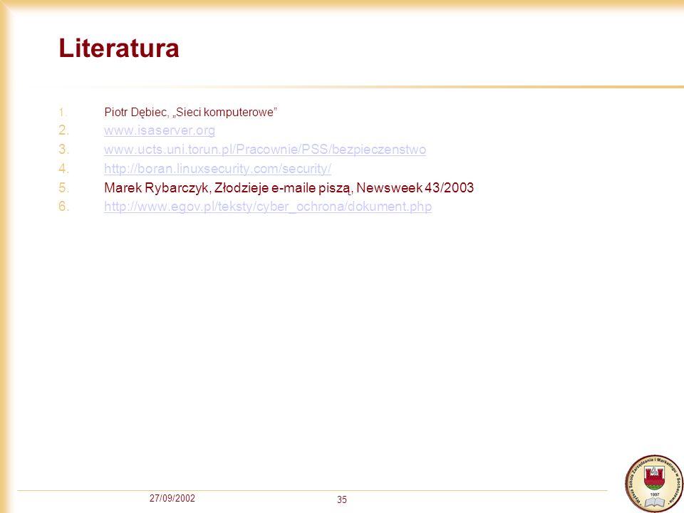 Literatura www.isaserver.org