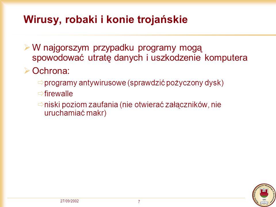 Wirusy, robaki i konie trojańskie