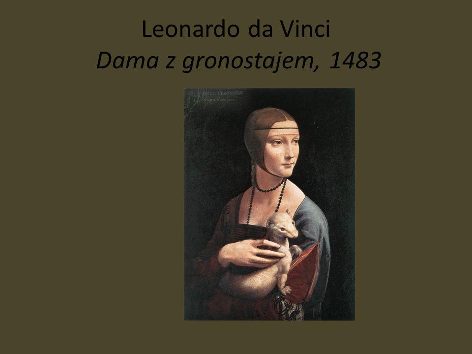 Leonardo da Vinci Dama z gronostajem, 1483
