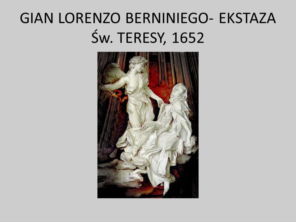 GIAN LORENZO BERNINIEGO- EKSTAZA Św. TERESY, 1652