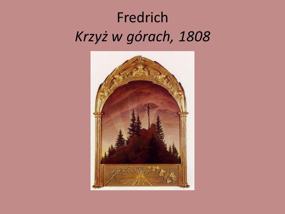Fredrich Krzyż w górach, 1808