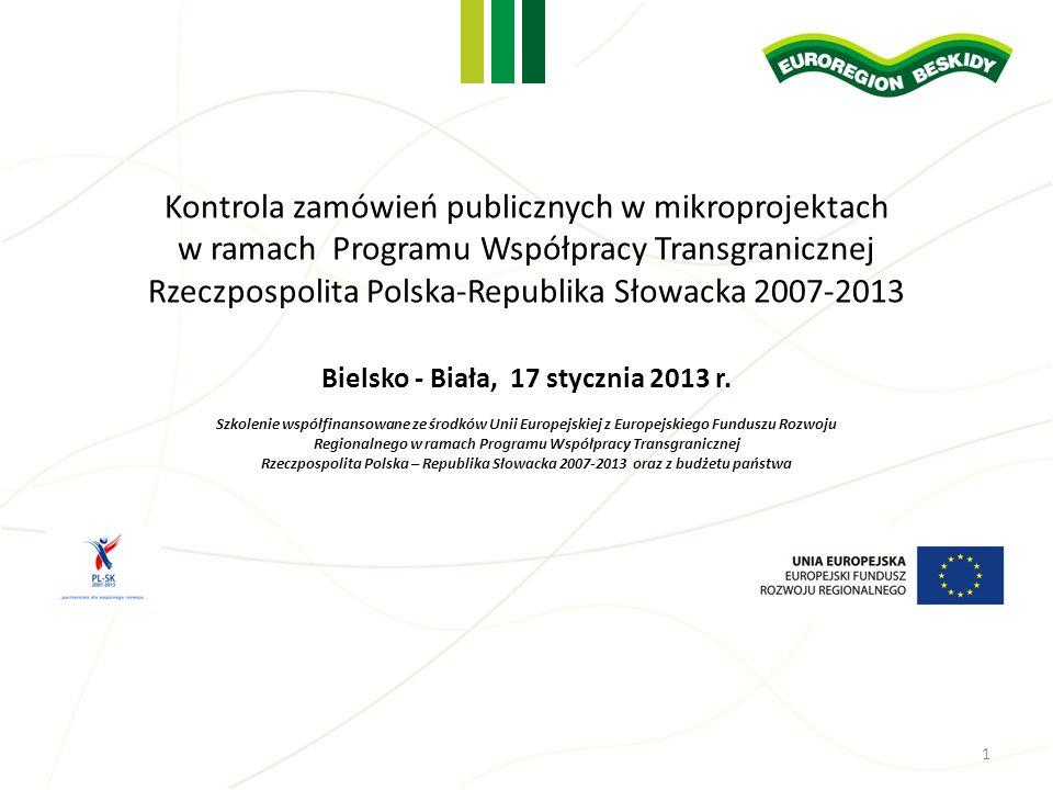 Kontrola zamówień publicznych w mikroprojektach