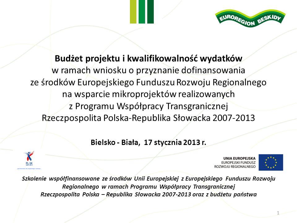 Budżet projektu i kwalifikowalność wydatków
