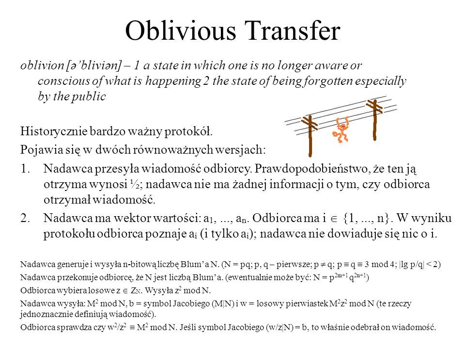 Oblivious Transfer