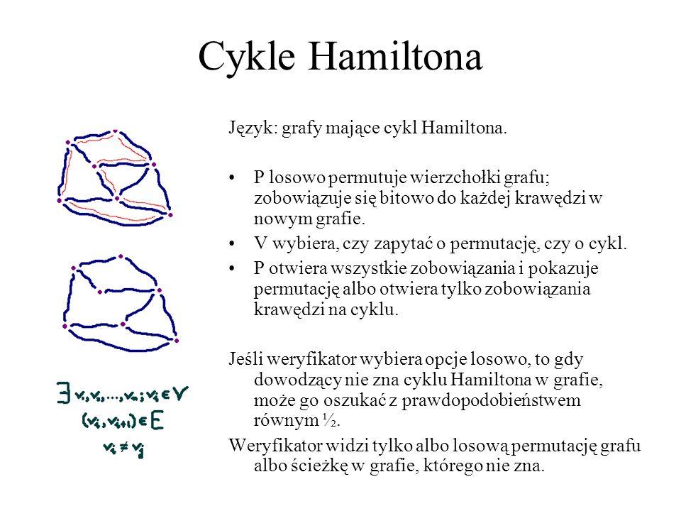 Cykle Hamiltona Język: grafy mające cykl Hamiltona.