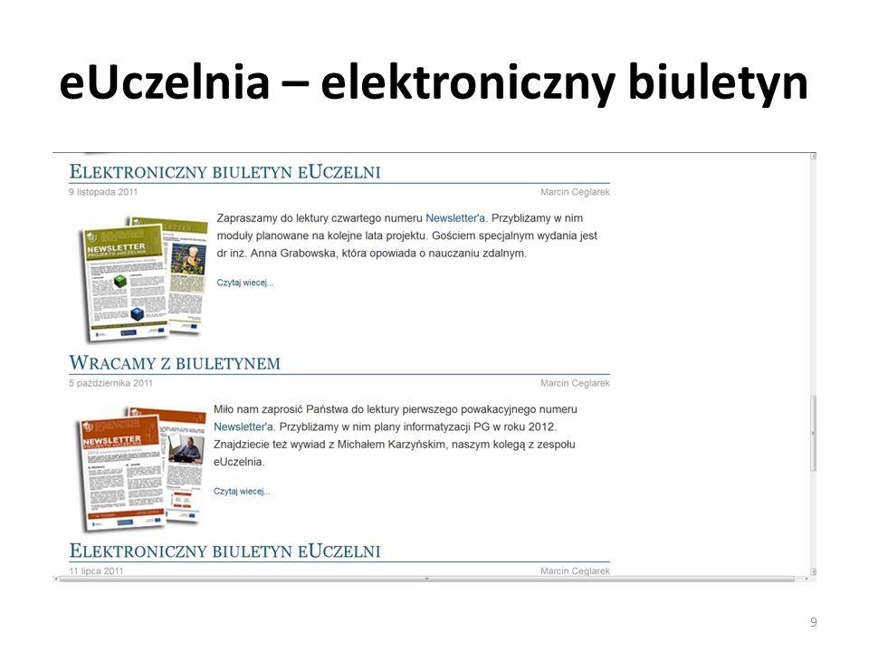 eUczelnia – elektroniczny biuletyn