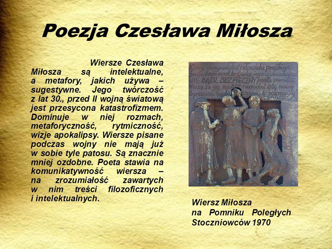 Poezja Czesława Miłosza