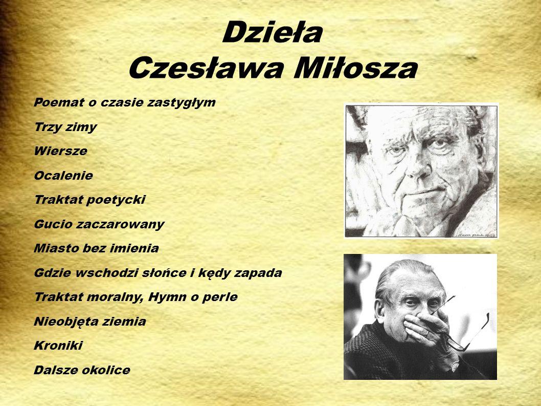 Dzieła Czesława Miłosza