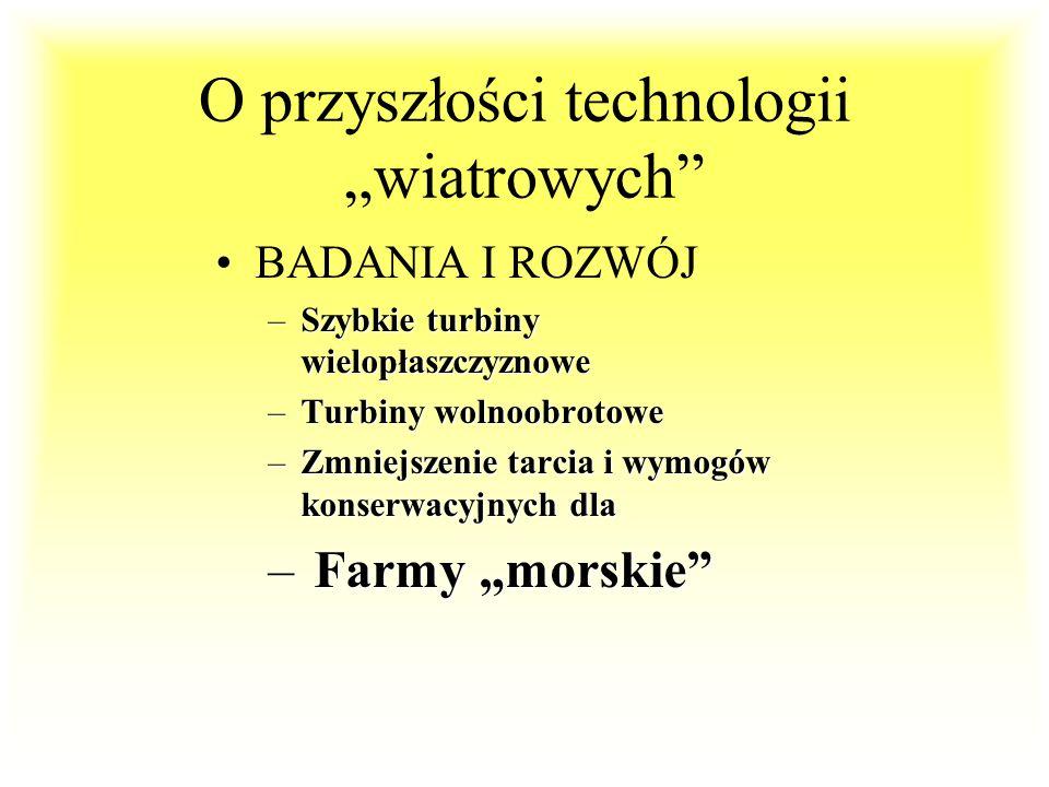 """O przyszłości technologii """"wiatrowych"""