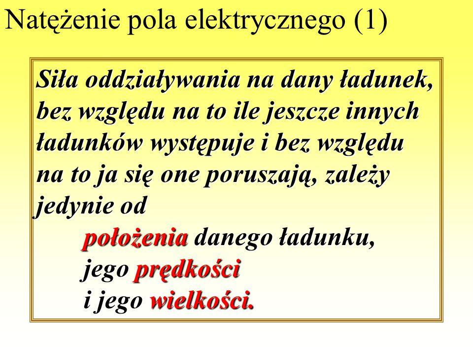 Natężenie pola elektrycznego (1)